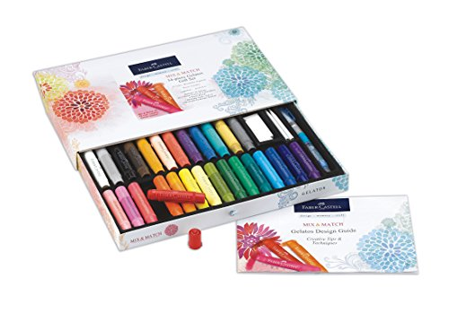 (Faber-Castell Gelatos Original Gift Set - 28 Colors - Multi-Purpose Art Color Sticks Set)