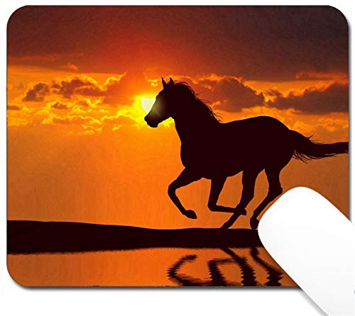 Citta Design - MSD Mouse Pad with Design - Non-Slip Gaming Mouse Pad - Horse Running During Sunset with Water Reflection Image 20362893 Customized Tablemats S