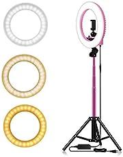 """YANXS Dimmerabile Ring Light 14"""" LED Luce ad Anello per Selfie con Otturatore Bluetooth Treppiede/Supporto per Cellulare/Bastone Selfie per Trucco Fotografia Video Youtube Foto in Riprese"""