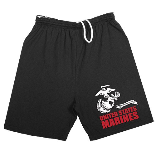 (Fox Outdoor Products United States Marines Running Shorts, Black, Small)