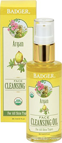 Badger Argan Face Cleansing Oil - 2 fl oz Glass Bottle