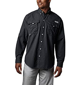 Columbia Men's Bahama Ii Long Sleeve Shirt, Black, 5XT