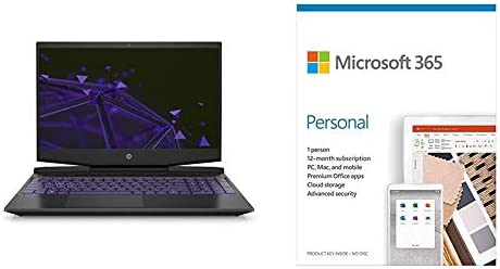 HP Pavilion Gaming 9th Gen Intel Core i5 Processor 15.6-inch FHD Gaming Laptop (8GB/1TB HDD/Win10/GTX 1650 4GB/Shadow Black)+Microsoft 365 Personal-One Year Subscription Included
