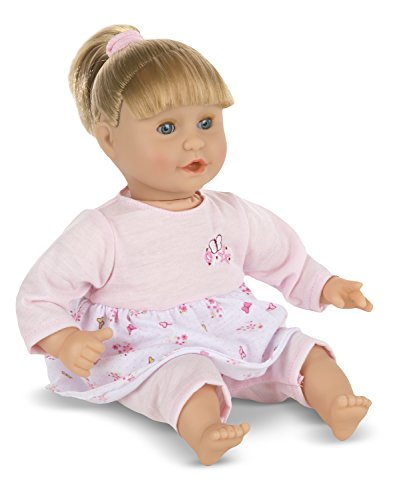 Melissa & Doug Mine to Love Natalie 12-Inch Soft Body Baby Doll With Hair and ()