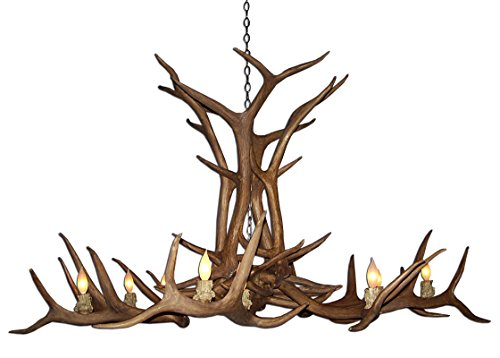 - Reproduction Antler Elk Single Tier Deer Chandelier Light XXLarge
