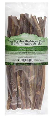 Papa Bow Wow Wholesome Treats 018666 Buffalo Bully Stix 50 PieceDog Treats, 12'' by Papa Bow Wow Wholesome Treats