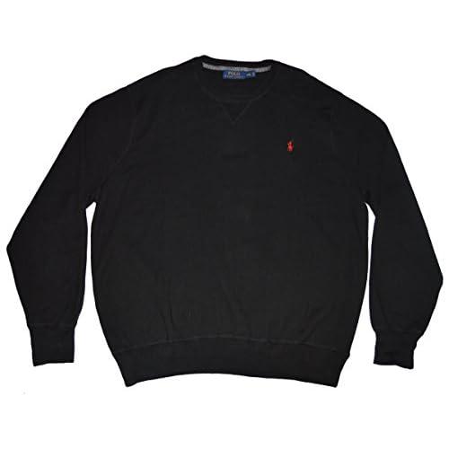 Polo Ralph Lauren Men\u0027s Long Sleeve Cotton Crew Neck Sweatshirt Black Size  2XL outlet