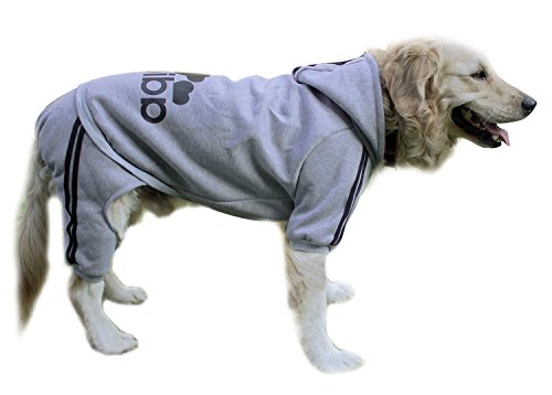 Scheppend Adidog Pet Clothes for Dog Cat Puppy Hoodies Coat Winter Sweatshirt Warm Sweater Dog Outfits, Grey (Knit Dog Sweater Clothes)