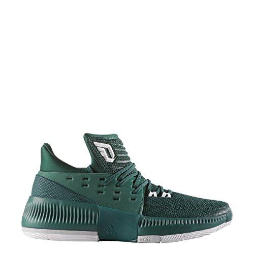 Adidas Dame 3 3 3 Schuh Männer Basketball Dunkelgrünweißgrau ifb 1792c4