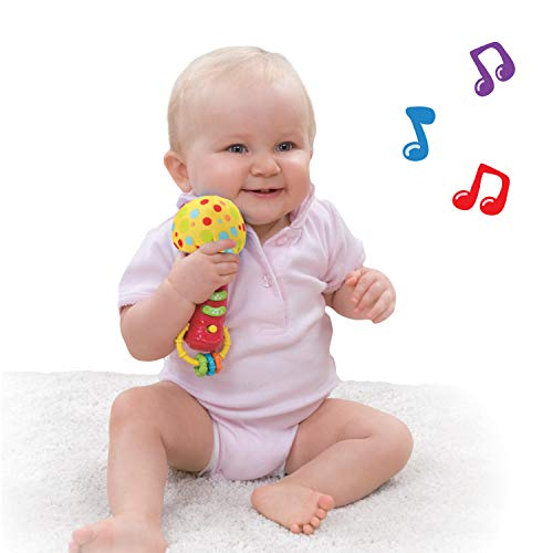 Kids Microphone Toy. My First Play Toy Microphone with Sounds and Teethers / Rattle. Battery Operated Toy Microphone for Toddlers and Babies 3 Month Up. New 2018-2019 Model.