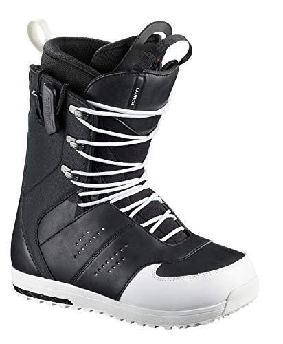 Salomon 2019 Launch Lace STR8JKT Men's Snowboarding Boots (Black, 11.5 US)