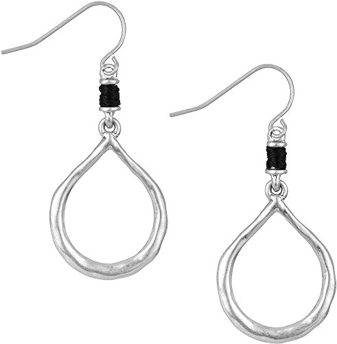 sakroots-black-cord-open-silver-tone-earrings-one-size-silver-tone