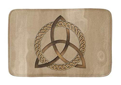 (Yesstd Celtic Triquetra Trinity Knot Absorbent Super Cozy Bathroom Rug Doormat Welcome Mat Indoor/Outdoor Bath Floor Rug Decor Art Print with Non Slip Backing 30