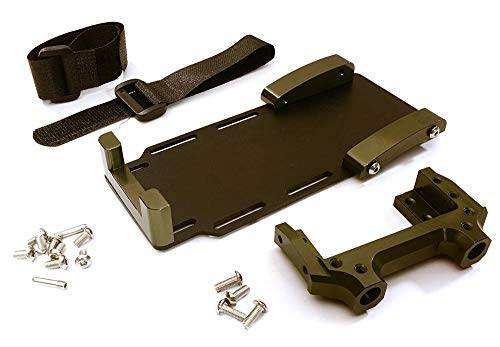 Integy RC Model Hop-ups C28023GUN Laydown Battery Tray w/Forward Servo Mount for Axial 1/10 SCX10 II (#90046-47)