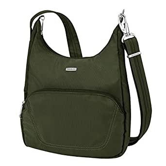 Travelon Anti-Theft Classic Essential Messenger Bag, Olive, One Size