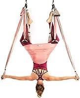 YOGABODY Yoga Trapeze (Oficial) con DVD, Color Rosa - Yoga Aéreo