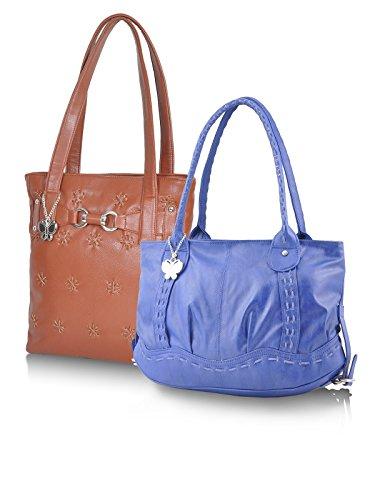 Butterflies Women's Handbag 13x10x3 Blue, Brown by Butterflies