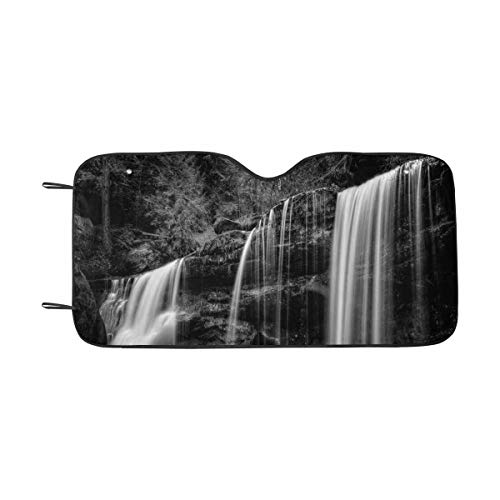 InterestPrint Hidden Waterfall in Hocking Hills Ohio Windshield Sunshades, Car Sun Shade Block Sun UV and Heat, Universal Fit