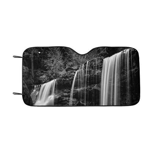 InterestPrint Hidden Waterfall in Hocking Hills Ohio Windshield Sunshades, Car Sun Shade Block Sun UV and Heat, Universal Fit
