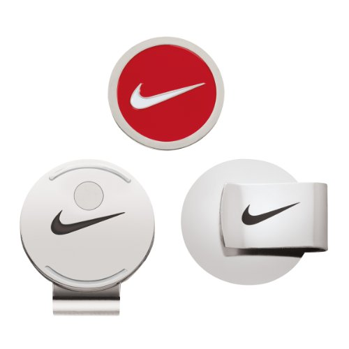 Nike Hat Clip and Ball Marker (Red/White)