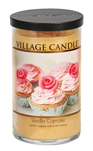 Village Candle Vanilla Cupcake 24 oz Glass Tumbler Scented Candle, Large