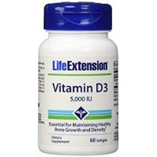 Life Extension Vitamin D3 5000 IU 60 softgels (Pack of 2) Carrier to shipping international usps, ups, fedex, dhl, 14-28 Day By Dragon Shopping
