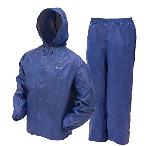 Frogg Toggs Ultra-Lite2 Waterproof Breathable Rain Suit, Mens, Blue, Size Small