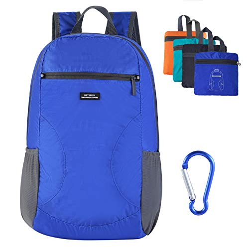 Metrekey Lightweight Packable Backpack Water Resistant Hiking Daypack Outdoor Foldable Handy Travel Bags Sapphire