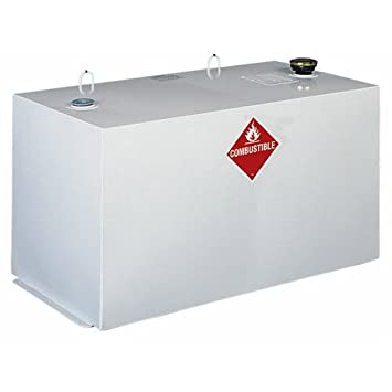Delta 484000 96 Gallon Capacity White Steel Rectangular Transfer Tank Truck  Box