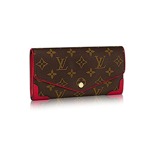 Authentic Louis Vuitton Monogram Canvas Sarah Wallet Retiro Article:M61184