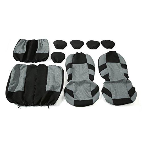 9 Pcs/Set Universal Car Intérieur Style Housses de Siège Lavable 3D Air Maille Tissu De Protection Coussin Composé Automobiles Pads