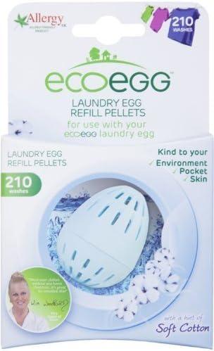 Ecoegg Nachf/üllpackung f/ür Waschei 210/Waschg/änge Weiche Baumwolle