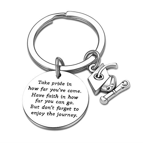 Graduation Gifts for Him/Her Inspirational Words Take Pride in How Far You Have Come Have Faith in How Far You Can Go Keychain Gifts for Graduates