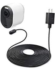 16ft/4.8m Indoor Magnetic Charging Cable with Quick Charge Power Adapter Compatible with Arlo Ultra/Ultra 2/Pro 3/Pro 4 (Black) (NOT Compatible with Arlo Essential Spotlight)