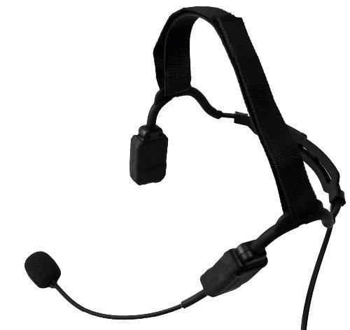 TAPaulk Tactical Elite Series Temple Bone Conduction Boom Mic Headset w/Tactical PTT & Quick Disconnect Hirose Connector NR-G8_QD