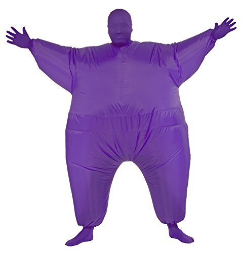 [Chub Suit Inflatable Blow up Full Body Jumpsuit Costume (Purple)] (Adult Purple Wizard Costumes)