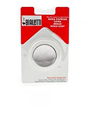 Bialetti 6964 Moka 12 Cup Replacement Filter and 3 Gaskets