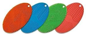 Spark Innovators Dish Egg Silicone Sponge, Red/Blue