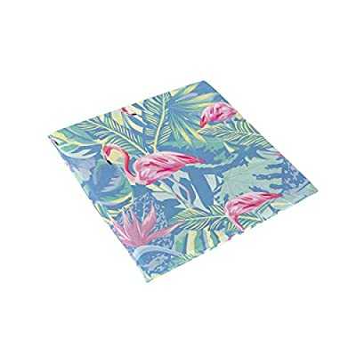 HNTGHX Outdoor/Indoor Chair Cushion Flamingo Banana Leaf Painting Square Memory Foam Seat Pads Cushion for Patio Dining, 16