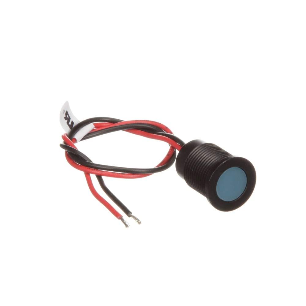 RS Pro 14mm flush IP67 sealed black LED; blu 24V Pack of 2 by RS-PRO (Image #1)