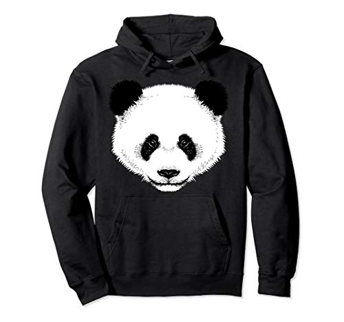 Cool Funny Panda Face Hoodie Halloween Dress-Up Costume -