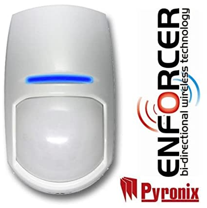 Pyronix, kx12dq-we, KX inalámbrico Alcance de 12 m PIR Sensor para Enforcer