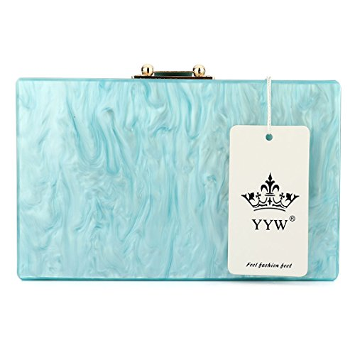 Bag pour Evening UNYU femme Bleu Pochette q5xaSgw0