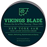 VIKINGS BLADE Luxury NON-LATHER Foaming Shaving Cream (New York 6AM)
