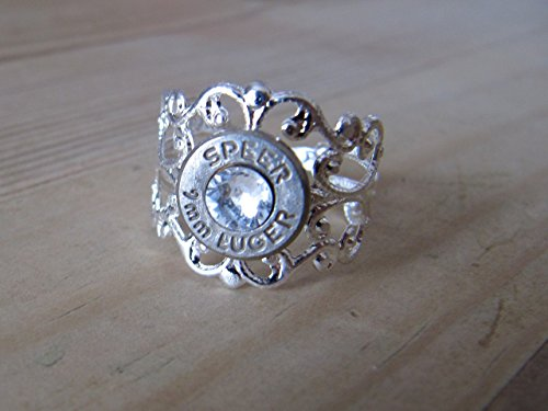 Bullet Ring - Filigree 9mm bullet ring - Bullet Jewelry - Western Wedding Ring