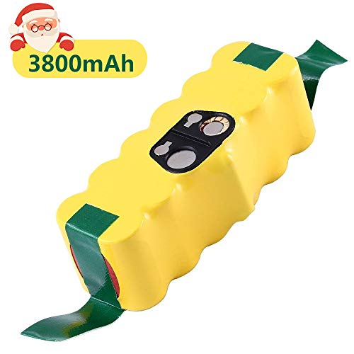 Upgraded to 3800mAh Ni-Mh Replace for iRobot Roomba 14.4V Battery R3 500 600 700 800 900 Series Vacuum510 530 531 532 535 536 540 550 552 560 570 580 595 620 650 660 760 770 780 and More Models