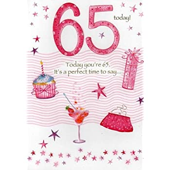 Amazon Second Nature Female 65th 65 Birthday Cards Poetry In