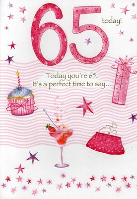 Image Unavailable Not Available For Colour Second Nature Female 65Th 65 Birthday Cards