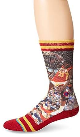 stance mens dominique wilkins atlanta hawks crew socks at