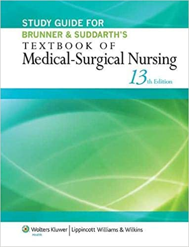 Study Guide for Brunner & Suddarth's Textbook of Medical